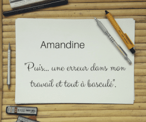 témoignage d'un burn-out amandine