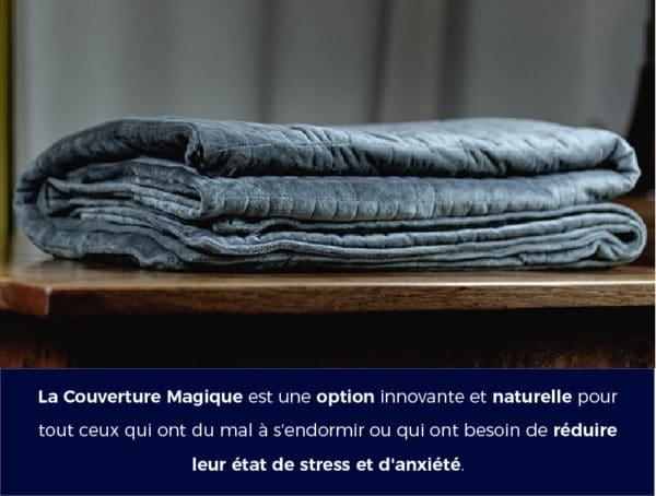 la couverture lestee ou ponderee ameliore le sommeil et réduit le stress