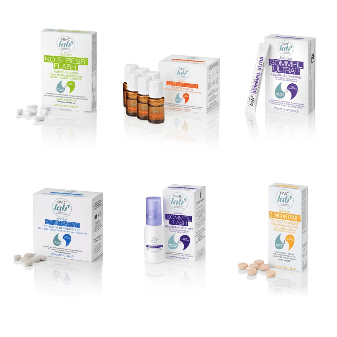 gamme de produits du laboratoire NMC LAB'